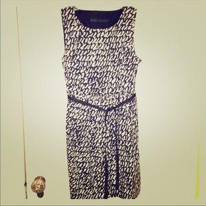 Zara Black & White Pattern Dress